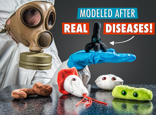 Modeled after real diseases