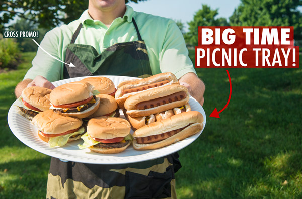 The Go Big Serving Tray is like a bigger, sturdier paper plate.