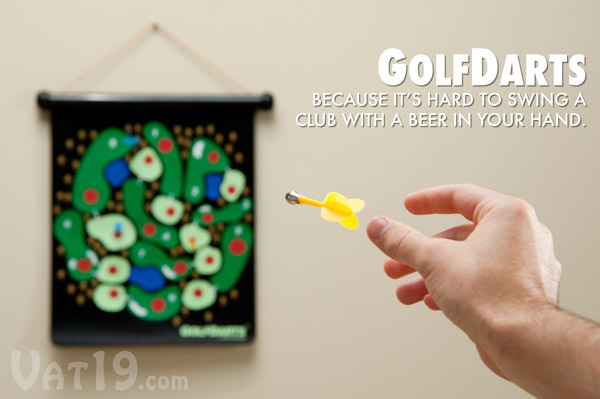 Golf Darts is a simple and fun magnetic golf dart game.