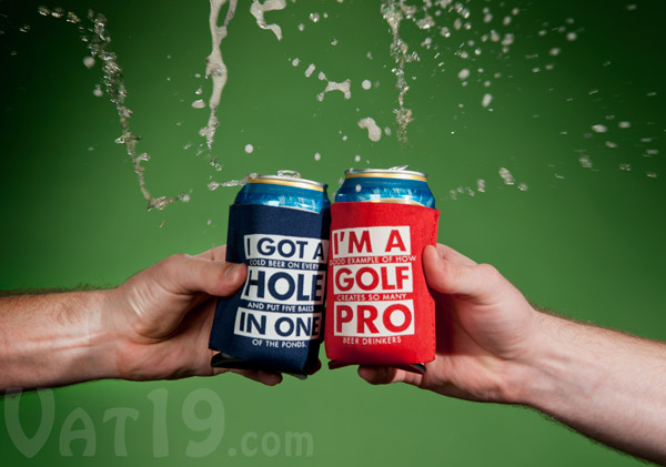 Golf Beer Koozies Smash