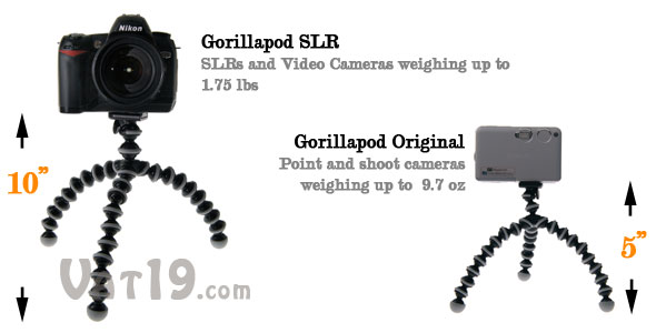 Gorillapod Tripod available in multiple sizes