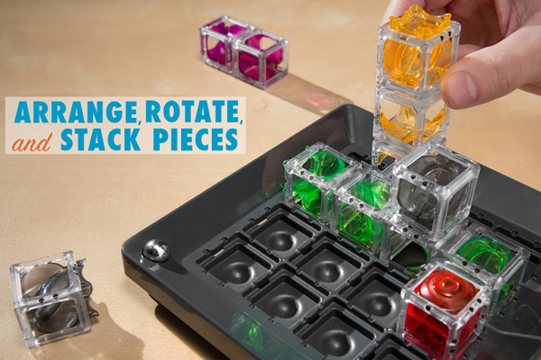 Arrange, rotate, and stack pieces in a multitude of ways.