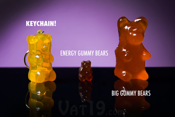 The Gummy Bear Keychain is a welcome addition to your family of Vat19.com Gummy Bear products.