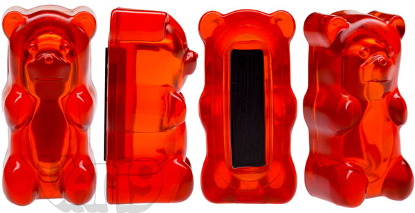 Gummy Bear Magnet viewed from multiple angles.