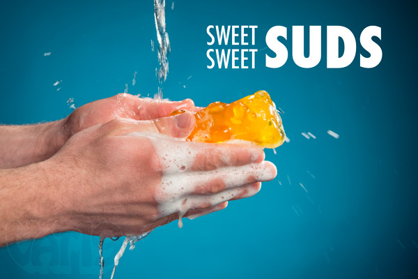 Keep yourself clean with the sweet, sweet suds of our Large Gummy Bear Soaps.