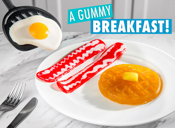 A gummy breakfast!