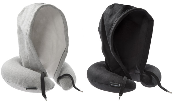 The Hoodie Travel Pillow is available in a variety of sizes.