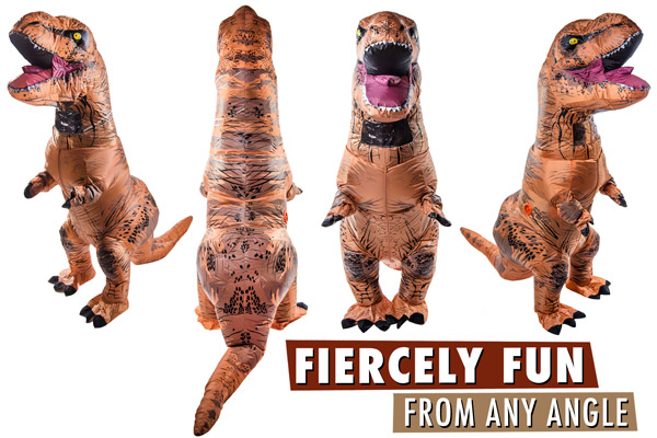 Inflatable Dinosaur Costume: Air-filled dino disguise