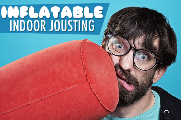 Inflatable indoor jousting