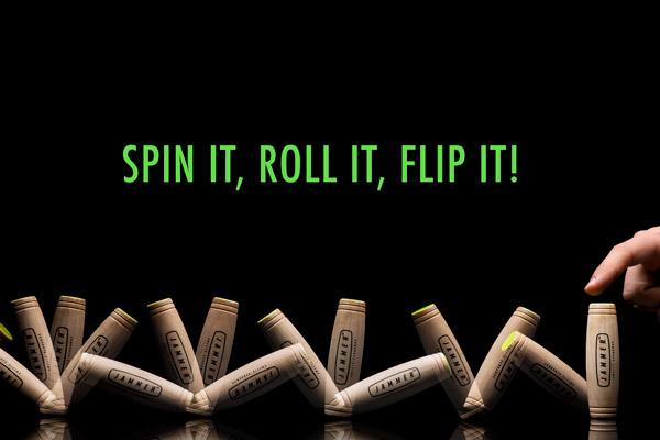 Spin it, roll it, flip it