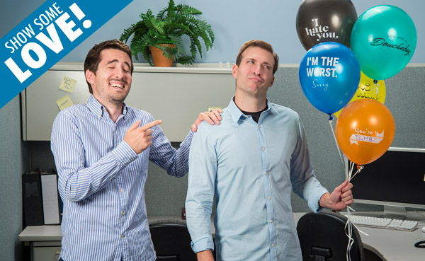 Jerk Balloons are perfect for pranking friends.
