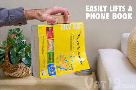 Joe's Sticky Stuff adhesive tape is strong enough to lift a phone book.