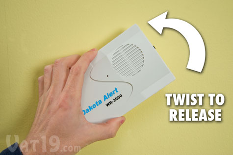 Step 4: Simply twist the object to remove it from the tape