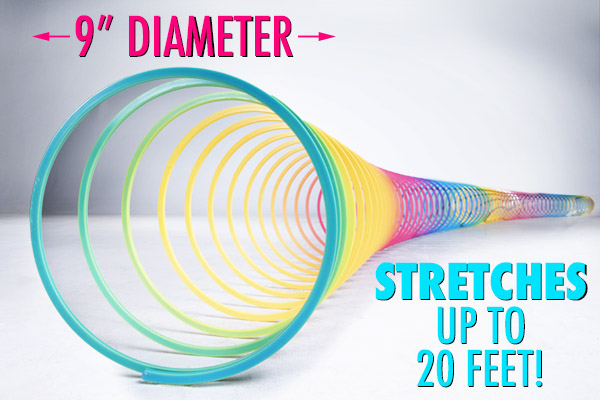 Diameter and length of stretch.