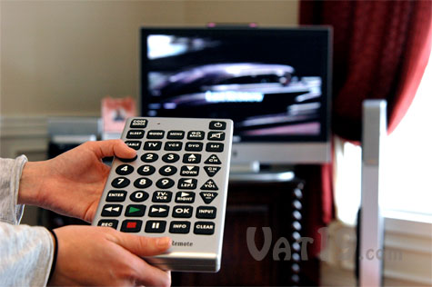 Jumbo Remote Control can control up to 8 different devices