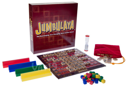 Jumbulaya box contents.