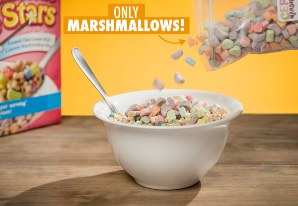 Add Just Cereal Marshmallows to any cereal.