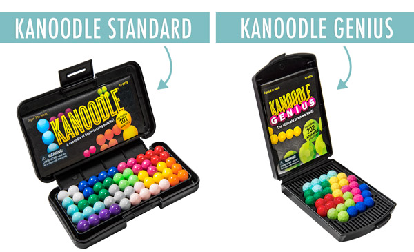 Choose from two styles of Kanoodle: Standard and Genius.