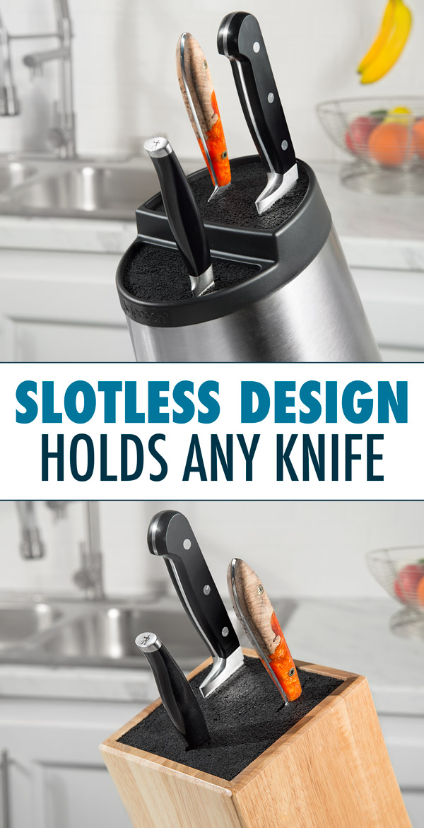 Kapoosh Universal Knife Block doesn't use slots.
