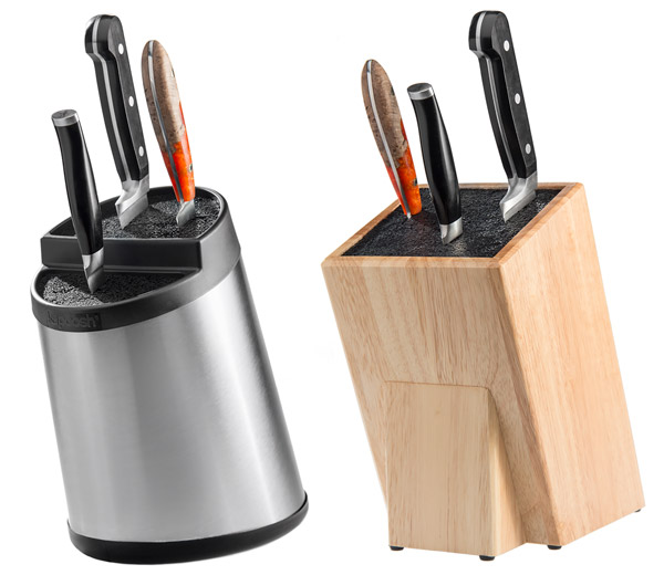Choose your style of the Kapoosh Universal Knife Block