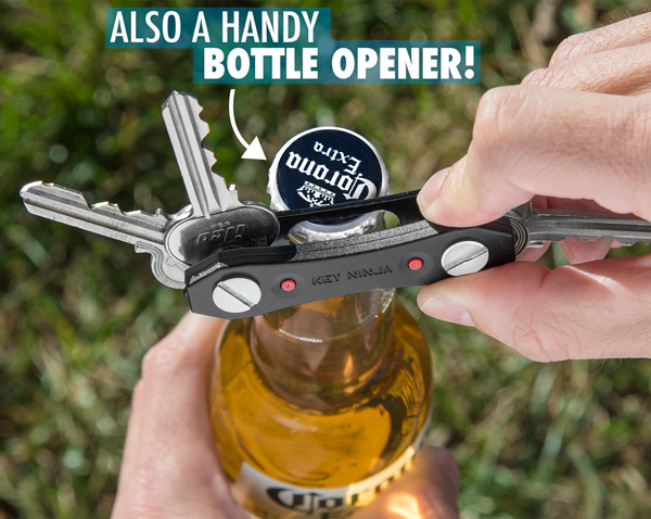 The Key Ninja has an integrated bottle opener on the bottom.
