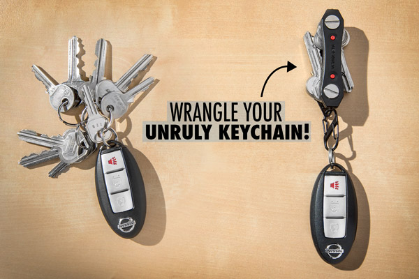 The Key Ninja's form factor eliminates a bulky mess of keys.