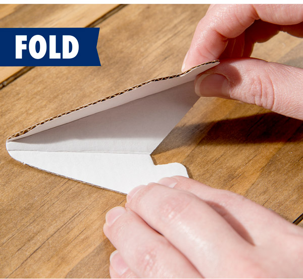 Fold each piece as directed.