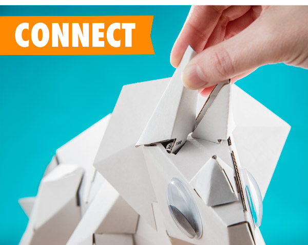 Connect the pieces together. No glue required!