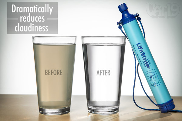 LifeStraw reduces turbidity of water.