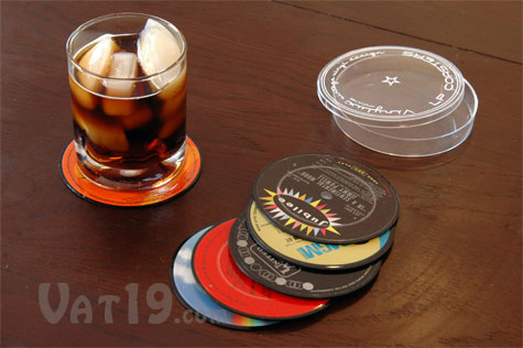 LP Record Coasters are laminated to protect your furniture.