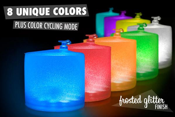 8 unique colors plus color-cycling mode