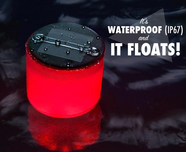 It's waterproof (IP67) and it floats!