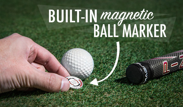 A built-in magnetic ball marker is always at-the-ready.