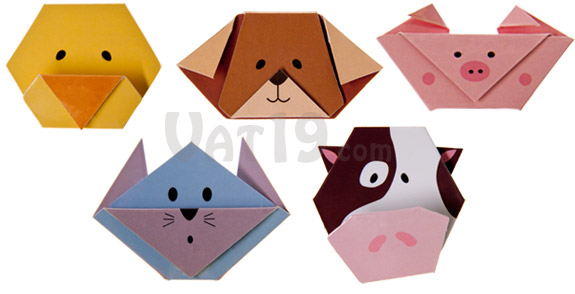 Magnetic Origami Animal Bookmarks Folded Paper Bookmark With