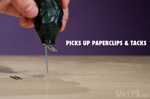 Pick up paperclips with Crazy Aaron's Magnetic Thinking Putty