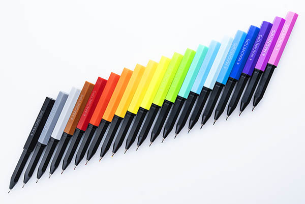 The Magnetips set includes 20 different colors.