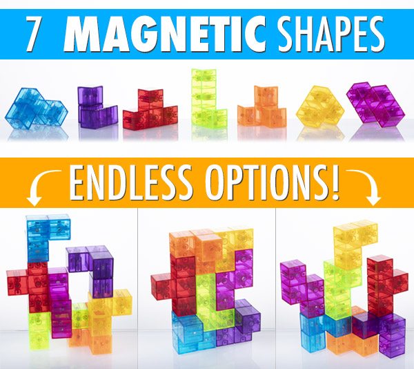 7 Magnetic Shapes, Endless Options