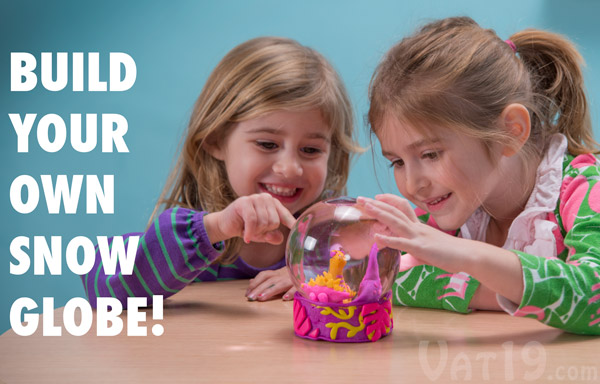 Kids will love creating their very own snow globe.