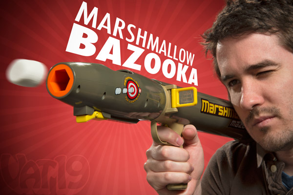 Mazooka Marshmallow Launcher shoots large marshmallows.
