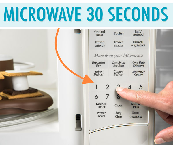 Setting Microwave for 30 seconds