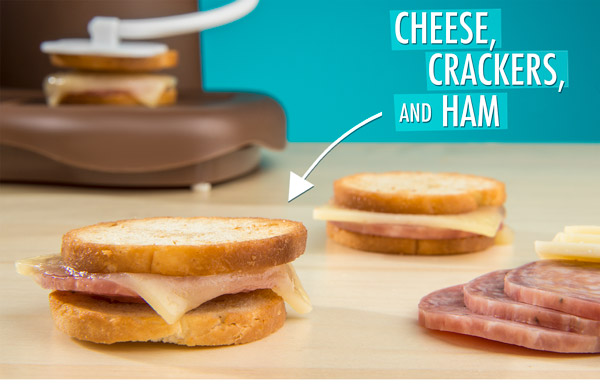 Cheese, Crackers, and Ham Mini Sandwich