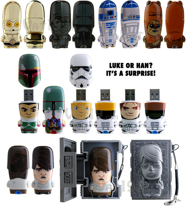 star wars usb flash drives r2 d2 c3po darth vader and. Black Bedroom Furniture Sets. Home Design Ideas