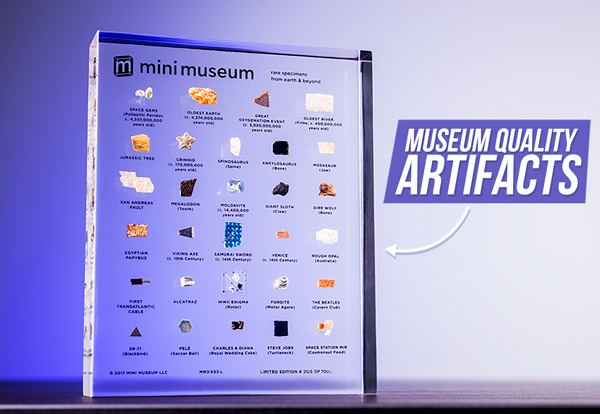 Museum-quality artifacts