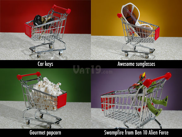 Add flair to your desk with the Miniature Shopping Cart