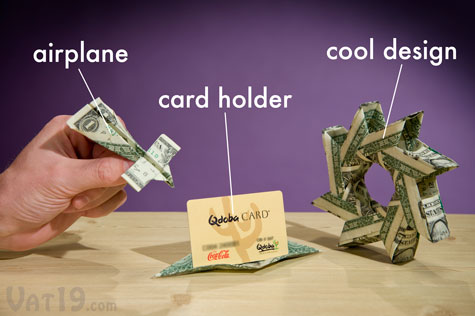 Learn to fold dollar bills into creative origami sculptures with the Money Origami Set.