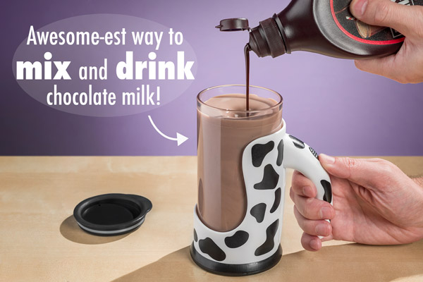 The Moo Mixer Supreme mixes syrups or powdered flavors.