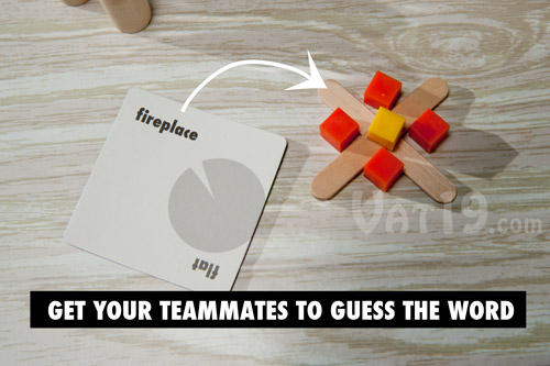 Get your teammates to guess the word before time runs out.