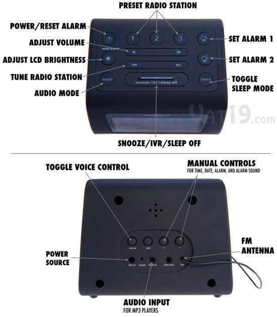 r2d2 action alarm clock instructions