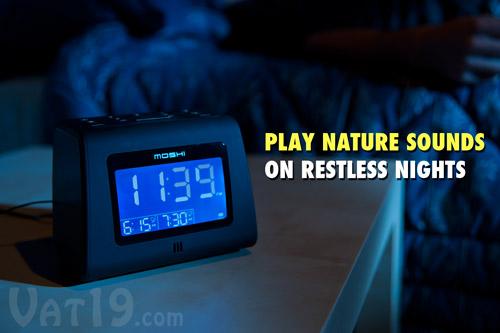 moshi digital alarm clock radio voice activated am fm digital clock radio. Black Bedroom Furniture Sets. Home Design Ideas