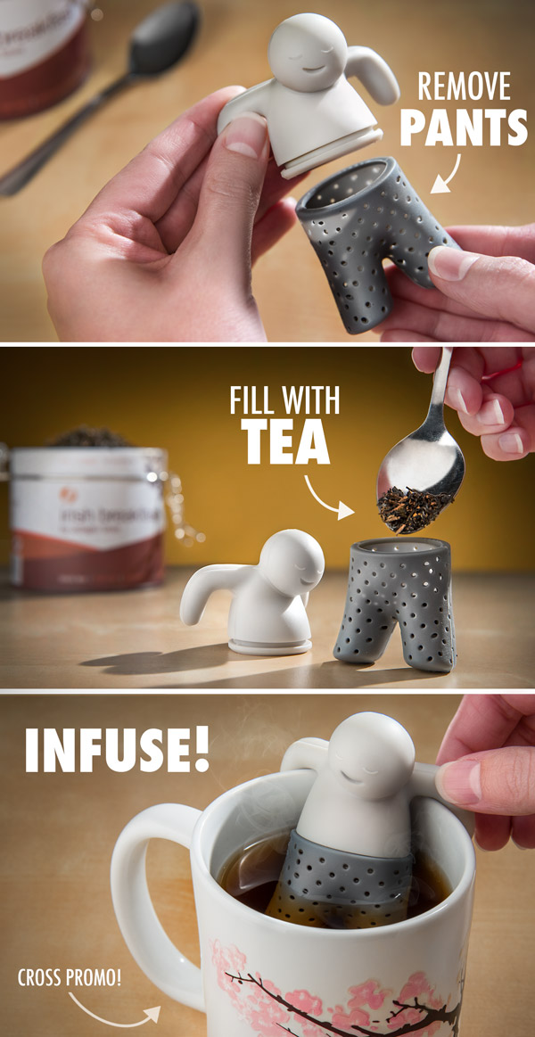 Step-by-step instructions of how to use the Mr. Tea Infuser.